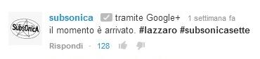 Subsonica Lazzaro tour